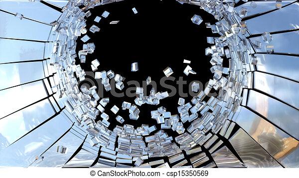 Illustration de morceaux de cass miroir verre isol for Spiegel zerbrochen