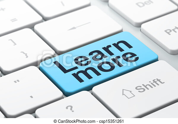 Education concept: Learn More on computer keyboard background - csp15351261