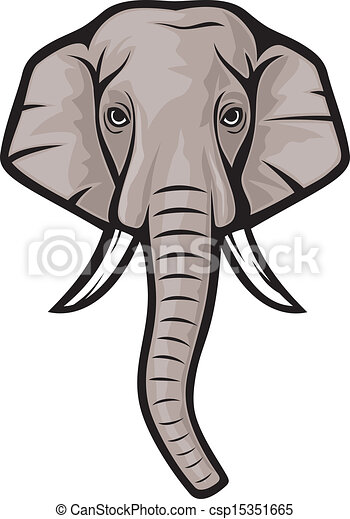 clip art vecteur de l phant t te indian elephant. Black Bedroom Furniture Sets. Home Design Ideas