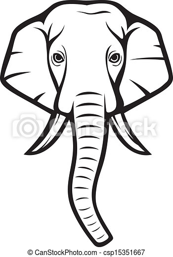 indian elephant sketch