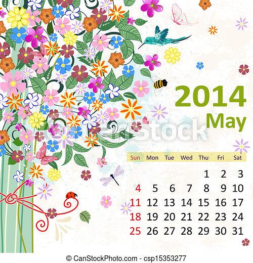 kalender, 2014, mei - csp15353277