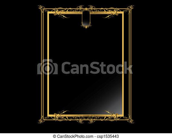 Gold Black elegant backgr - csp1535443