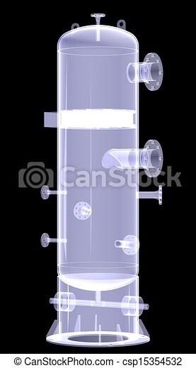 Industrial equipment. X-Ray render - csp15354532