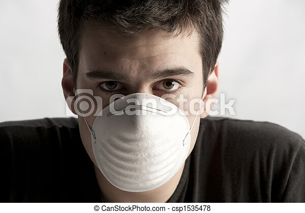 man with mask - life in t