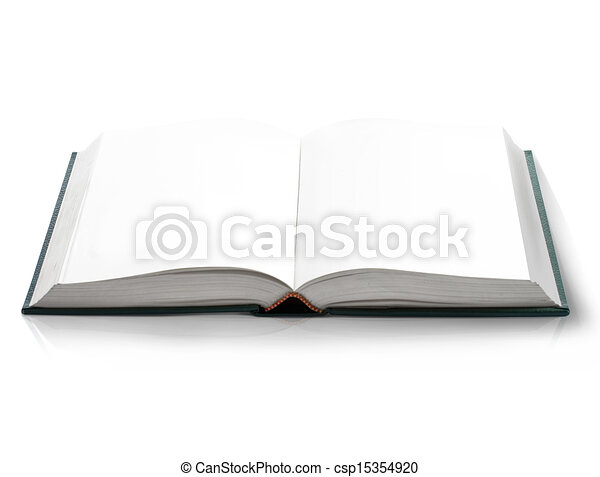 Clip Art of Hard cover Open book with empty blank pages, viewed by ...: becuo.com/open-book-cover-clip-art