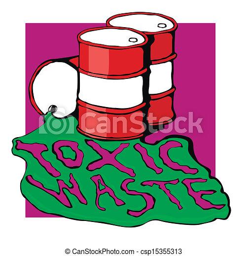 Vector Clip Art of barrels of toxic waste. vector ...