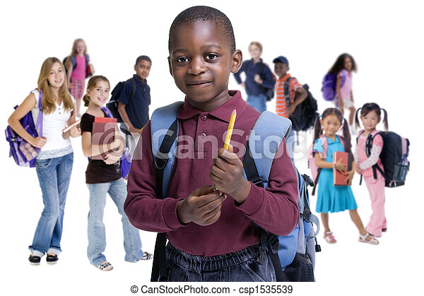 escola, crianças, Diversidade - csp1535539