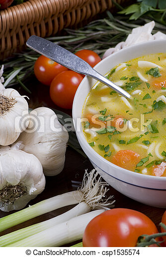 Chicken Noodle soup - csp1535574