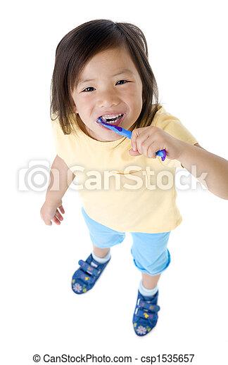 Brushing teeth - csp1535657