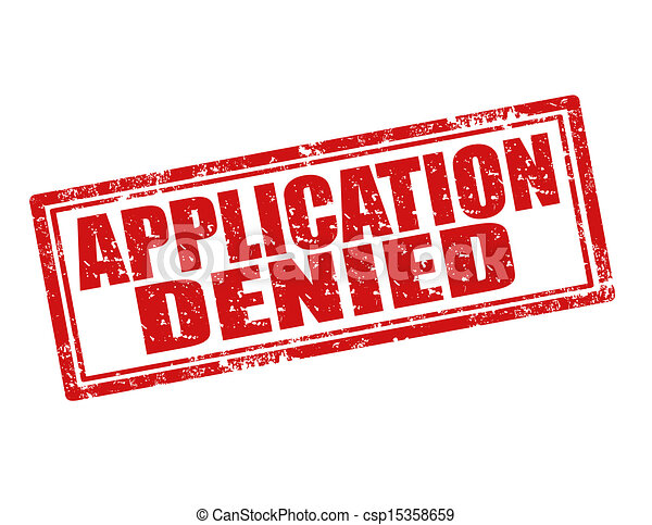 Clipart Vector of Application denied-stamp - Grunge rubber stamp ...