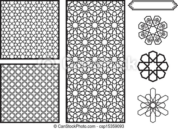 EPS Vectors Of Middle Eastern Islamic Patterns