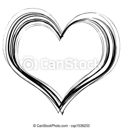 scribble heart - csp1536233