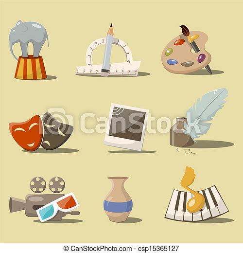 Art icons - csp15365127
