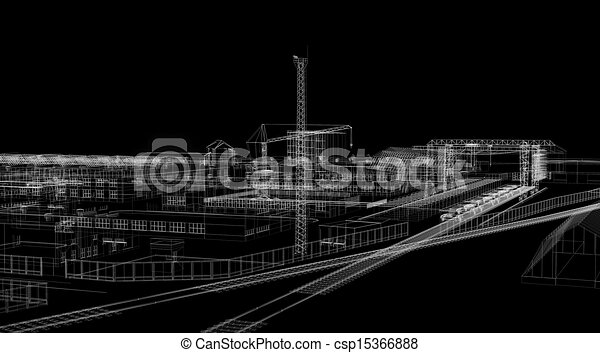 Industrial abstract architecture - csp15366888