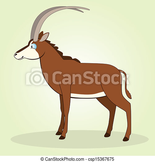Vectors Illustration of Sable Antelope - Vector ...