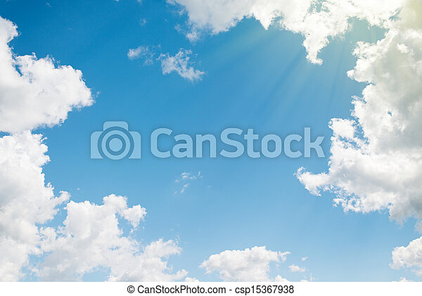 background. beautiful blue sky with clouds - csp15367938