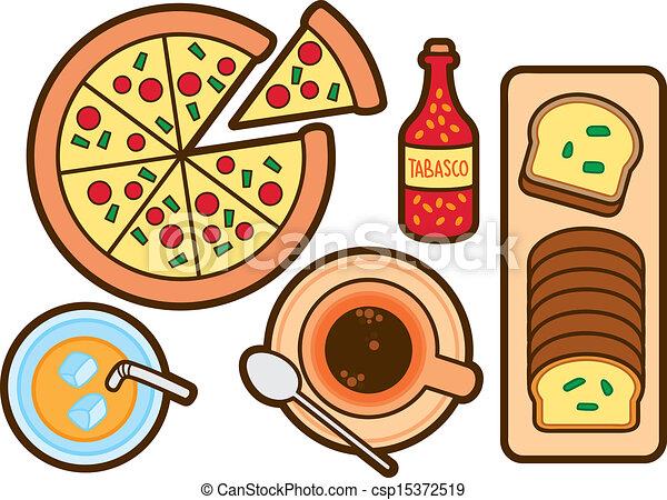 Vector Clip Art of food and beverage icon csp15372519 ...  Vector Clip Art...