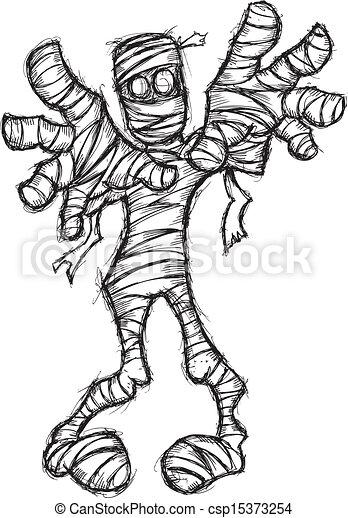 clipart vector of grunge mummy csp15373254 search clip Vampire Clip Art Cute Mummy Clip Art