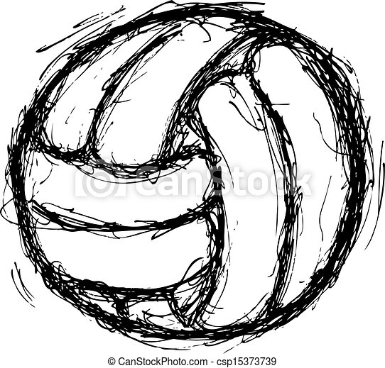 Grunge Line Drawings Vector Grunge Volley Ball
