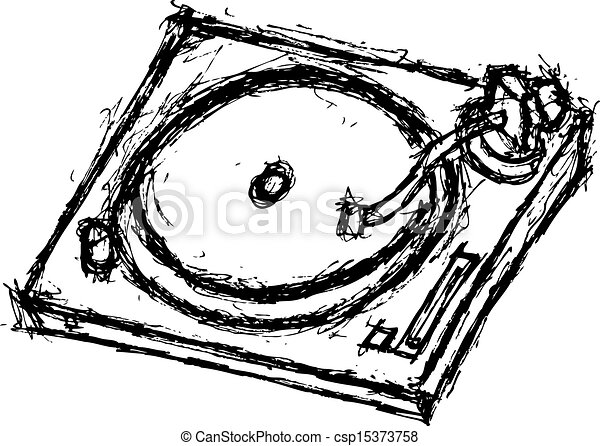 Grunge Line Drawings Vector Grunge Turntable