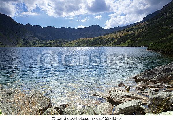 mountain lake - csp15373875