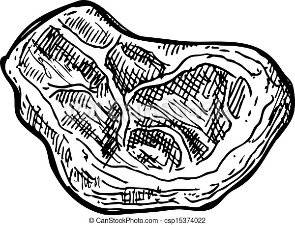 Raw Meat Drawing Hand Drawn Raw Meat