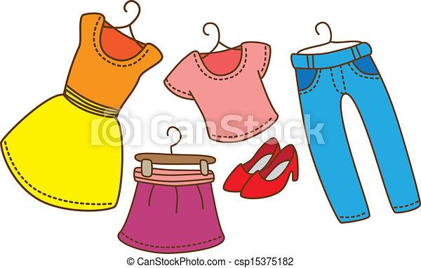 Vector of set of clothes - set of clothes csp15375182 ...