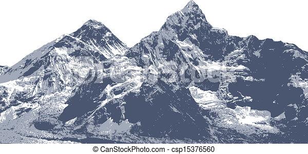 Everest Mountain illustration - csp15376560
