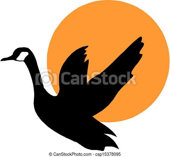 Geese Flying Drawing Vector Silhouette Flying Geese