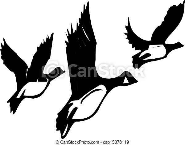 Geese Flying Drawing Vector Flying Geese