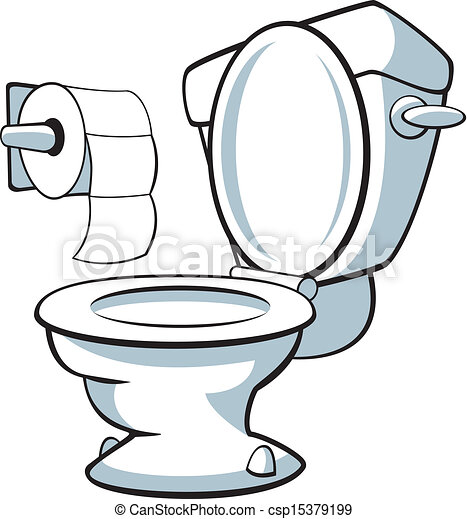 Eps Vectors Of Toilet Vector Illustration Of A Toilet
