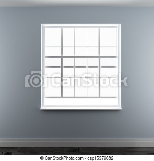 Modern residential window - csp15379682