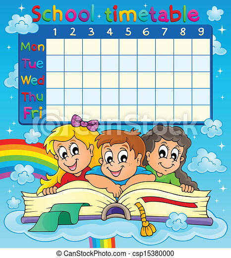 School Timetables to Print School Timetable Thematic