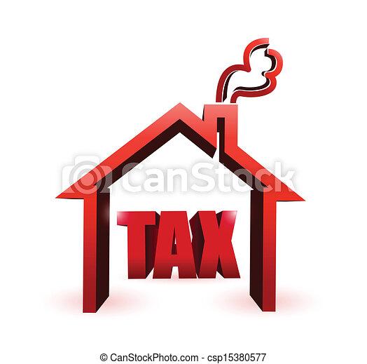 home taxes illustration symbol. illustration - csp15380577