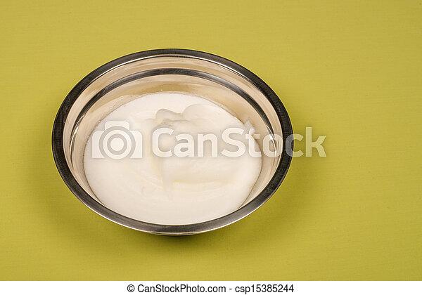 Whisked egg white - csp15385244