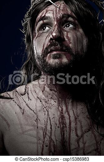 Jesus Christ, crucifixion concept, religion picture - csp15386983