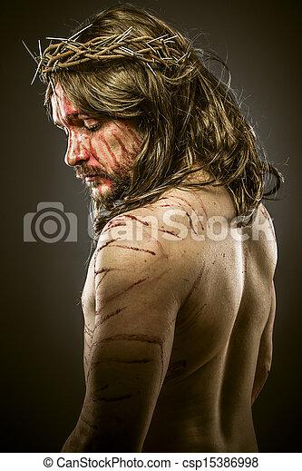 Jesus, viacrucis concept, religion picture - csp15386998