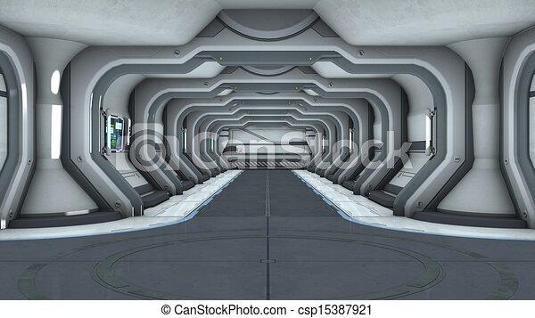 Clip art de portail vaisseau spatial image de for Interieur vaisseau spatial