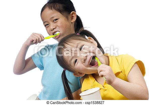 刷, 牙齒 - csp1538827