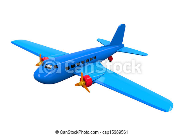 Airplane Toy Isolated - csp15389561