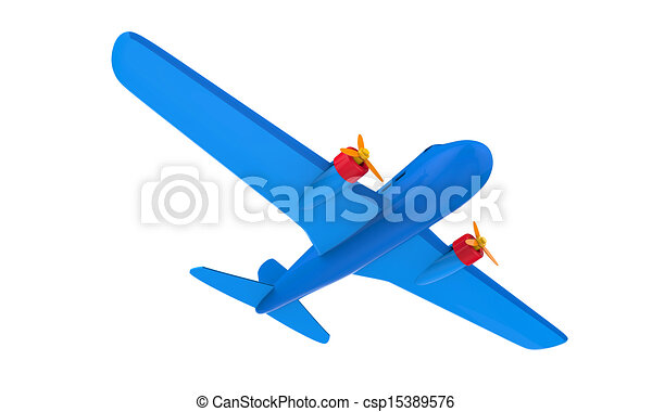 Airplane Toy Isolated - csp15389576
