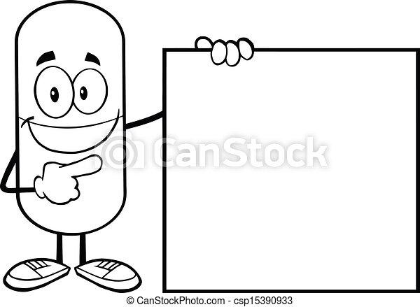 Vector contorneado p ldora c psula stock de for How to draw a pill