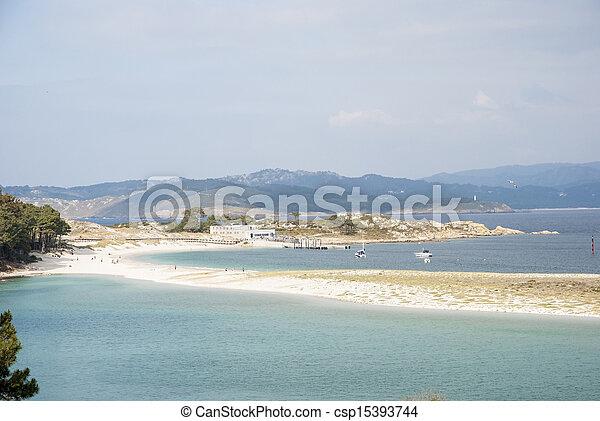 Cies islands natural park, Galicia - csp15393744