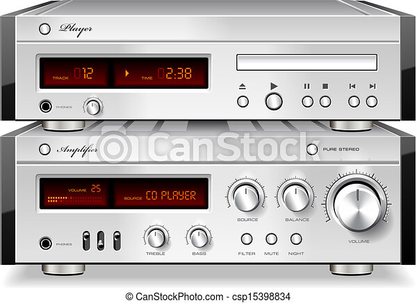 Vectors of Music Stereo Audio Compact Disc CD Player with ...