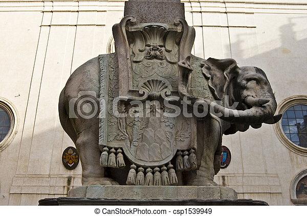 Bernini's elephant - csp1539949