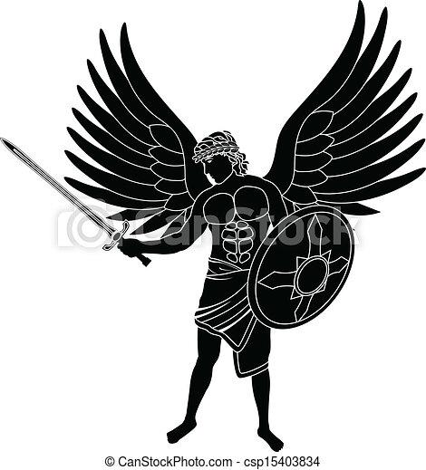 Vectors of angel. stencil. first variant. vector illustration ...
