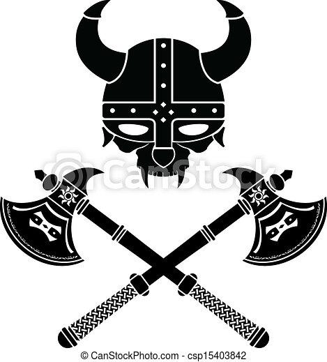 fantasy viking helmet - csp15403842