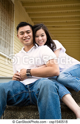 Happy asian couple - csp1540518
