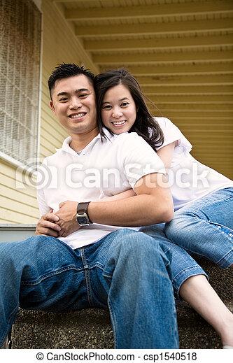 Happy asian couple - csp1540518