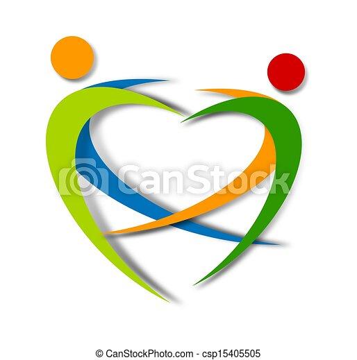 wellness abstract logo design - csp15405505